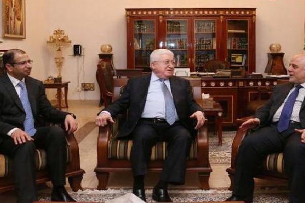 الرؤساء العراقيون الثلاثة العبادي ومعصوم والجبوري