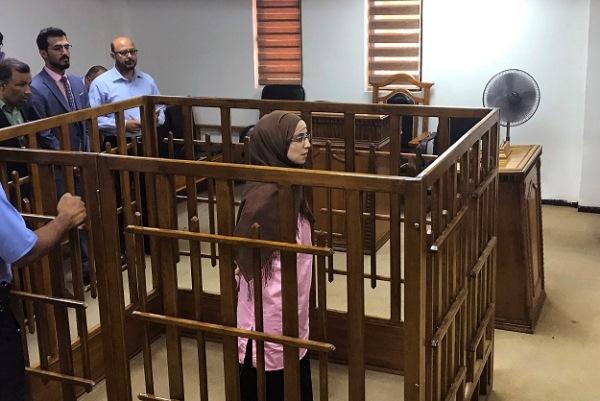 إحدى المتهمات الداعشيات الأجنبيات أمام محكمة الجنايات العراقية