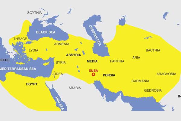 الخريطة الحلم لإعادة الإمبراطورية الفارسية