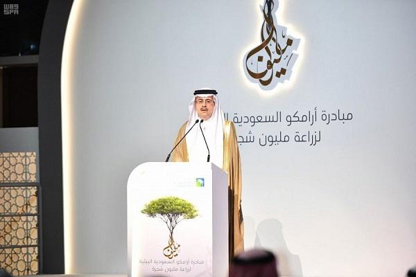 خلال الإعلان عن مبادرة المليون شجرة
