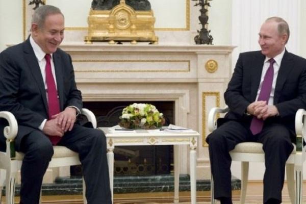 بوتين ونتانياهو- ارشيف