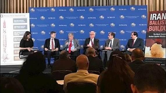 خبراء دوليون خلال مؤتمر صحافي بواشنطن عن برنامج ايران النووي الصاروخي