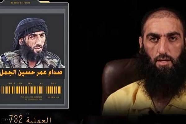 الداعشي القاتل صدام الجمل في صورتين