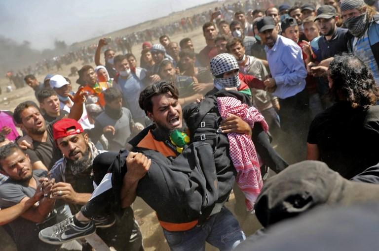 إسرائيل تقتل عشرات الفلسطينيين في غزة بالتزامن مع افتتاح السفارة الأمريكية بالقدس