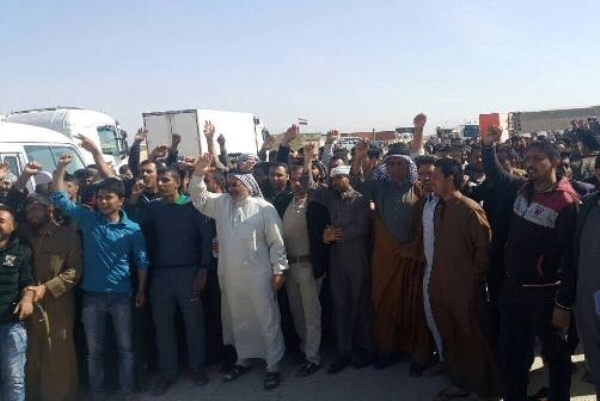 تركمان وعرب كركوك يتظاهرون ضد تزوير الانتخابات