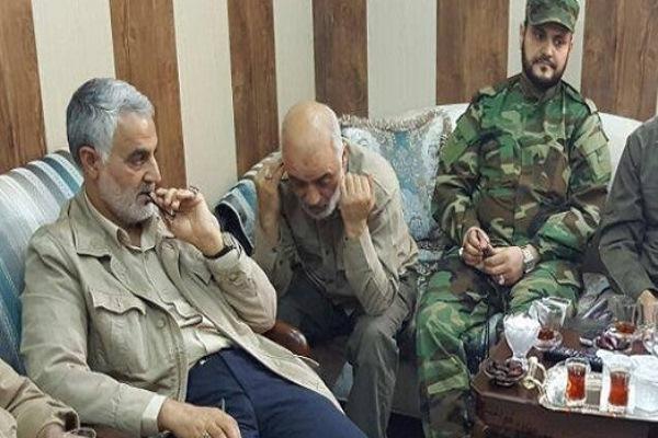 قاسم سليماني مع قادة الحشد الشعبي العراقي