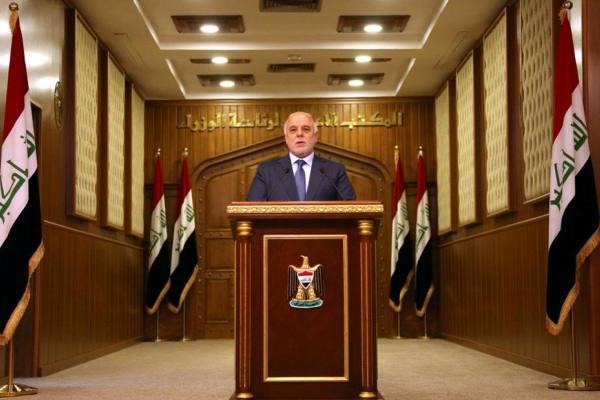 العبادي موجهًا كلمته إلى العراقيين