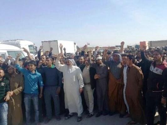 تركمان وعرب كركوك يتظاهرون رفضا لتزوير الاكراد لنتائج الانتخابات