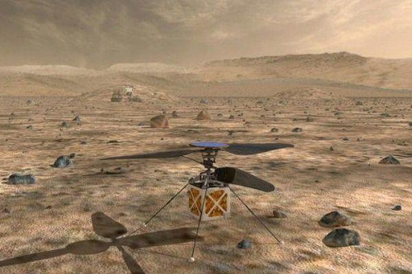 صورة توضيحية للطائرة المروحية التي تعتزم ناسا إرسالها إلى المريخ