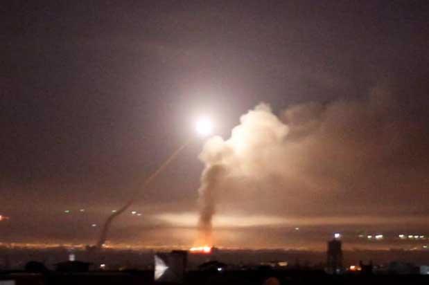 لقطة من الغارات الاسرائيلية ليل الأربعاء ـ الخميس