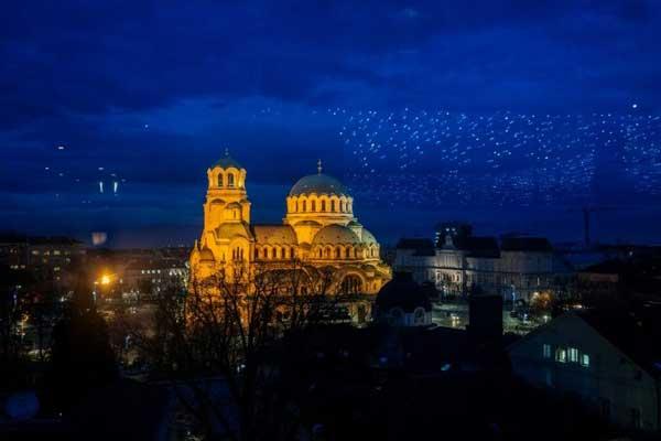 صورة لكاتدرائية القديس ألكسندر نيفسكي في صوفيا التقطت في 2 يناير 2018