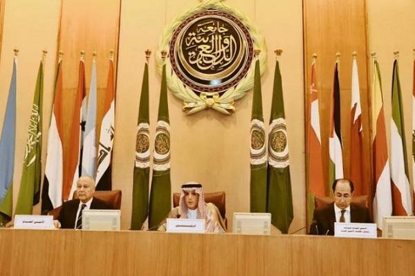 وزير الخارجية السعودي خلال كلمته الافتتاحية لأعمال الدورة غير العادية لمجلس جامعة الدول العربية