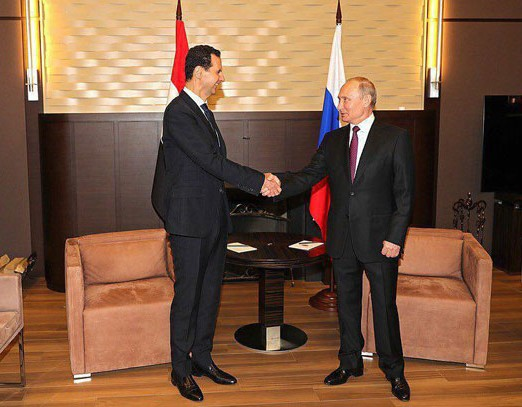 قمة بين بوتين والاسد في سوتشي - صورة لوكالة (سانا)