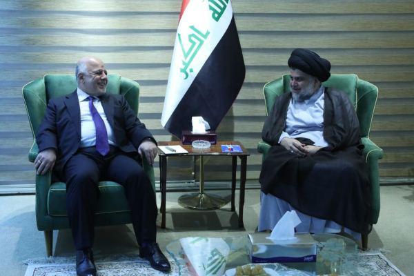 العبادي والصدر خلال اجتماعهما في بغداد