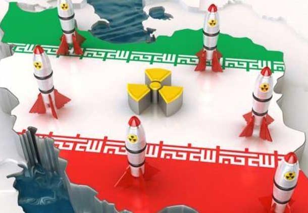 خريطة تبين مواقع المنشآت الإيرانية النووية