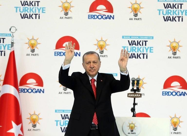 أردوغان في حملته الانتخابية في أرضروم