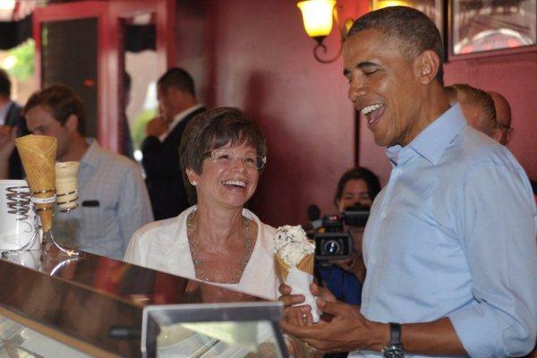جاريت مع الرئيس الأميركي السابق باراك أوباما