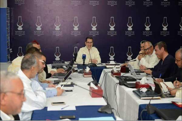 سعد الدين العثماني في اجتماع اللجنة الوطنية لحزب العدالة والتنمية المغربي