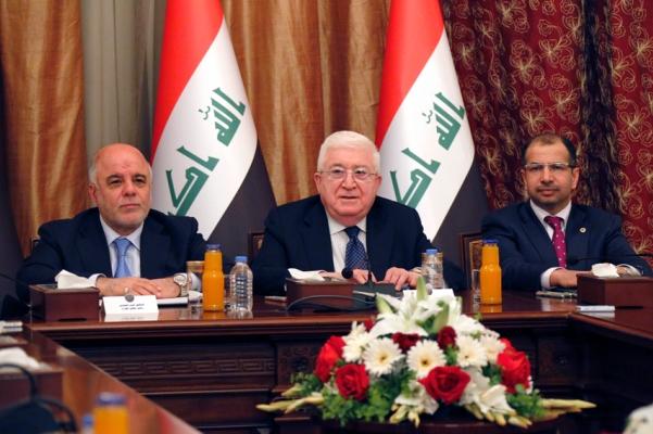 الرؤساء العراقيون الثلاثة للبرلمان والجمهورية والحكومة