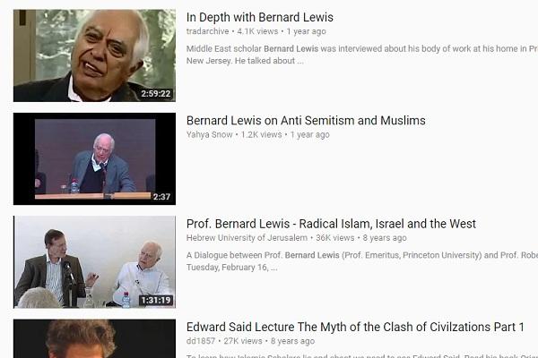 محاضرات برنارد لويس ومقابلاته تملأ اليوتيوب