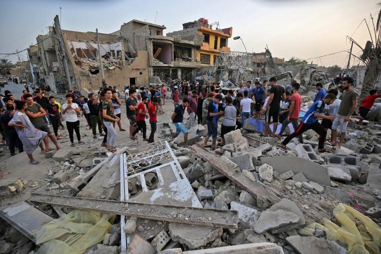 دمار هائل في تفجير مدينة الصدر في بغداد
