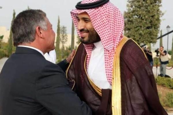 لقاء سابق بين عاهل الأردن وولي العهد السعودي