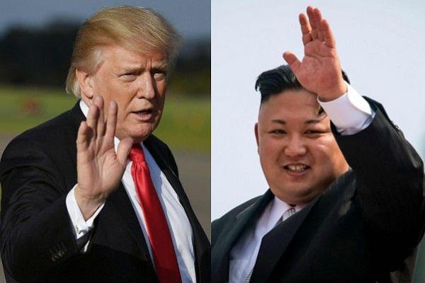 الرئيس دونالد ترمب والزعيم كيم جونغ أون
