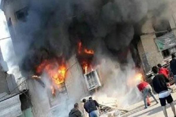 حريق مخازن صناديق الانتخابات في بغداد