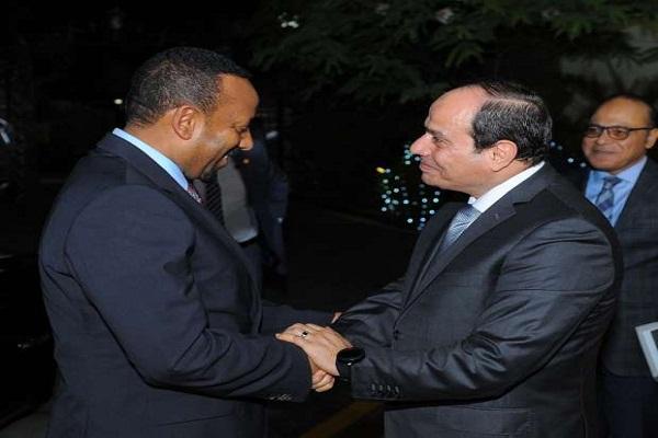 الرئيس السيسي مستقبلا رئيس الوزراء الأثيوبي أبي أحمد