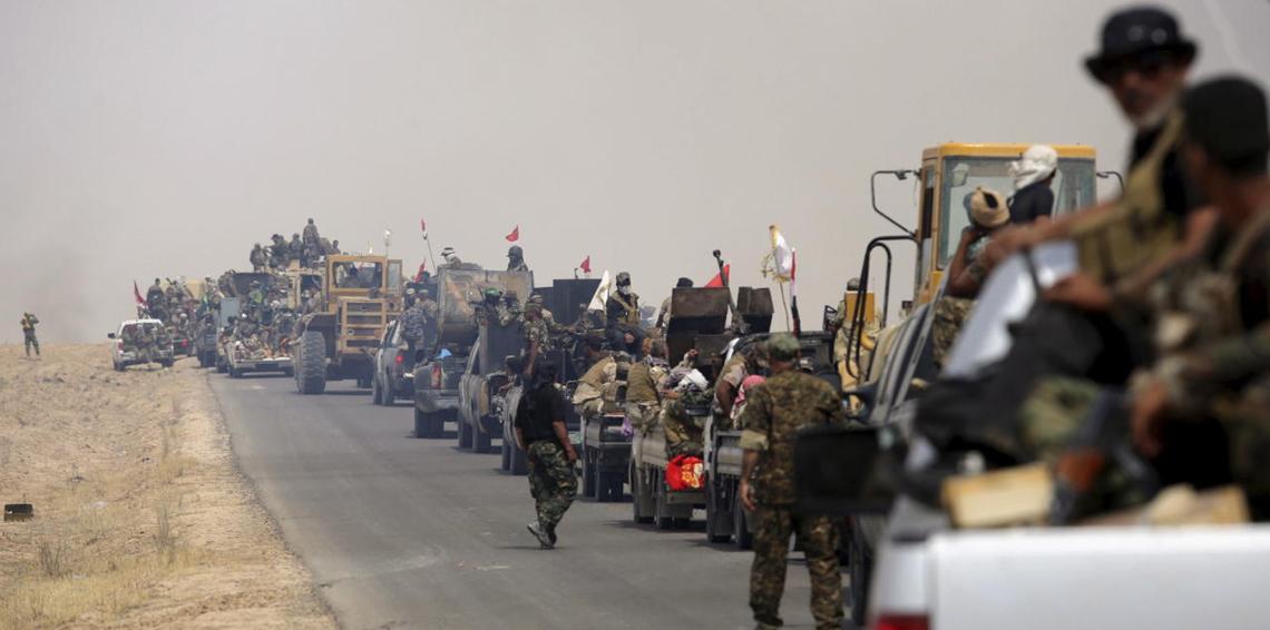 قوات من الحشد الشعبي قرب الحدود مع سوريا