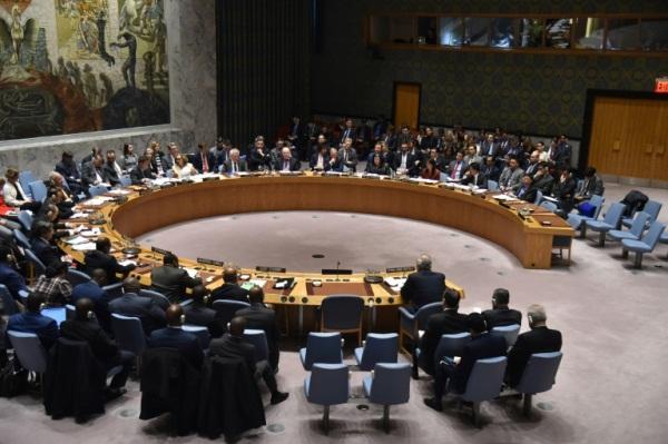 مجلس الأمن الدولي ملتئما في مقر الامم المتحدة في نيويورك