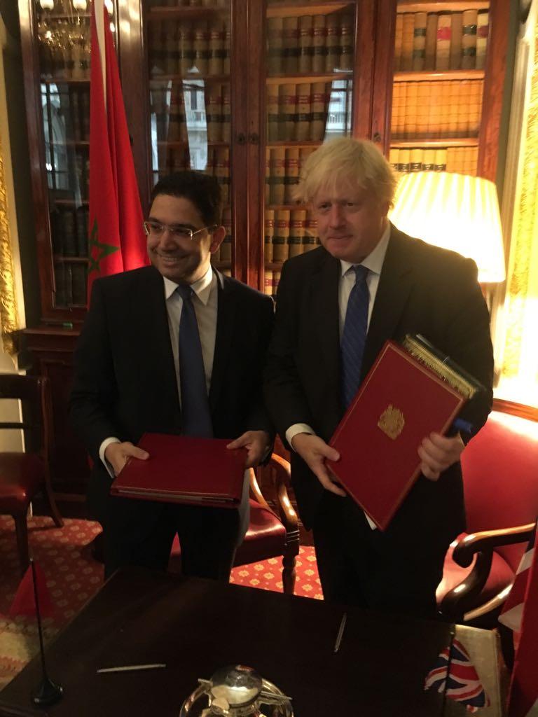 جونسون مع نظيره المغربي في لندن الخميس