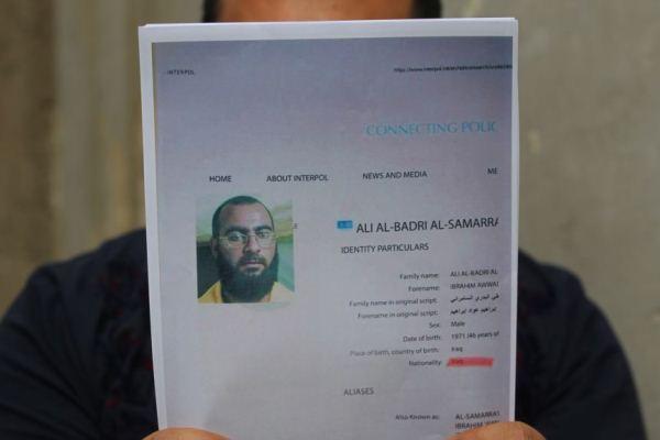 اسم أبو بكر البغدادي كما ورد بقائمة مطلوبين في العراق