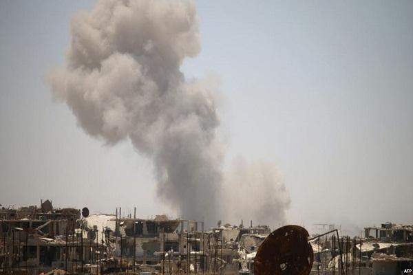 قصف قوات النظام لدرعا