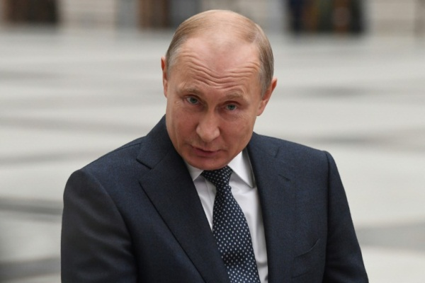 الرئيس الروسي فلاديمير بوتين في موسكو في 7 يونيو 2018