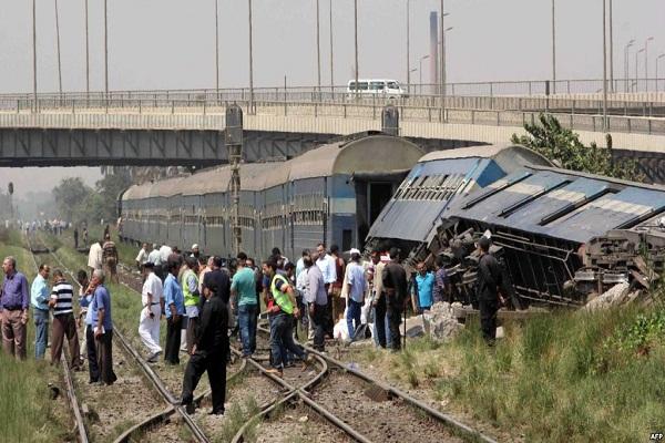 احد حوادث القطارات في مصر
