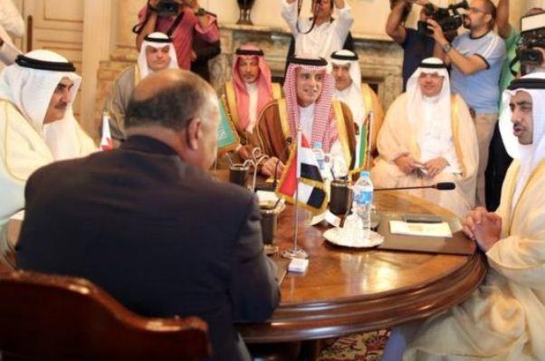 اجتماع وزاري سابق للدول الأربع المقاطقة لقطر