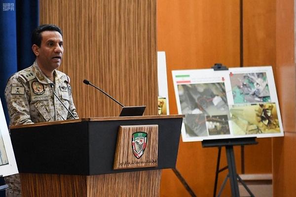 العقيد المالكي خلال المؤتمر الصحافي في الرياض