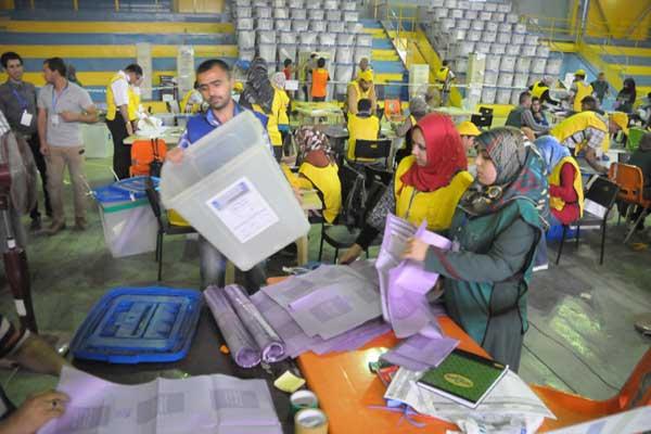 عمليات عد الاصوات في الانتخابات العراقية
