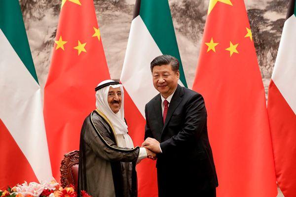 أمير الكويت والرئيس الصيني