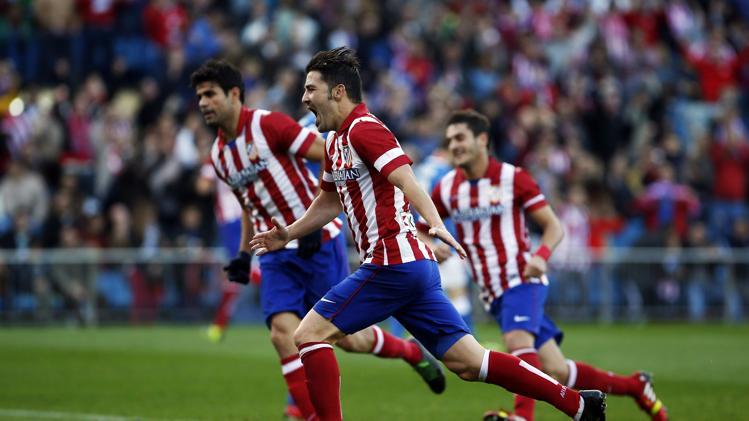 فرحة فيا بالهدف الأول لأتلتيكو مدريد في مرمى بلباو