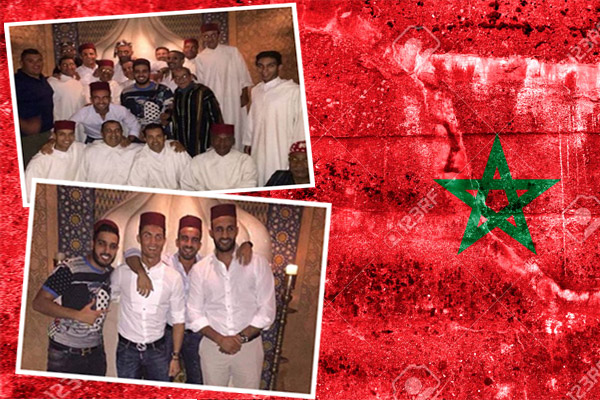 رونالدو في المغرب رفقة بعض أصدقائه