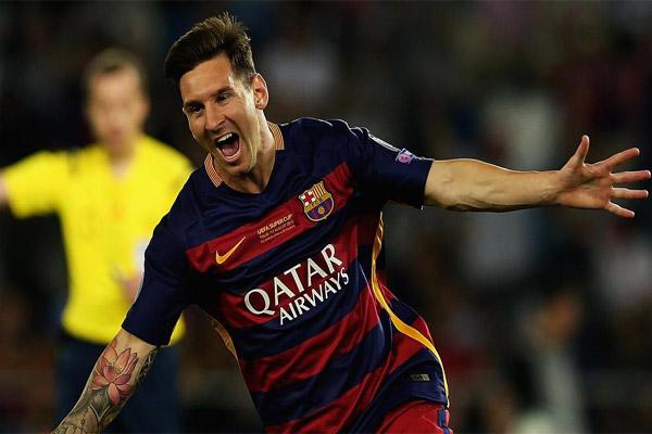 المهاجم الأرجنتيني ليونيل ميسي لاعب برشلونة الإسباني