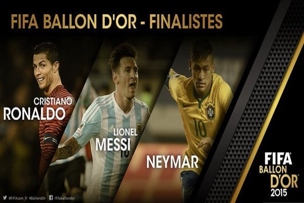 جائزة الكرة الذهبية تنحصر بين ميسي ورونالدو ونيمار