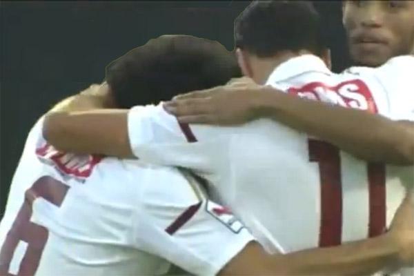 إسماعيل مطر سجل هدف الوحدة الأول