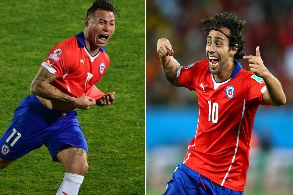 ثنائي منتخب تشيلي المتألق فالديفيا وإدواردو فارغاس