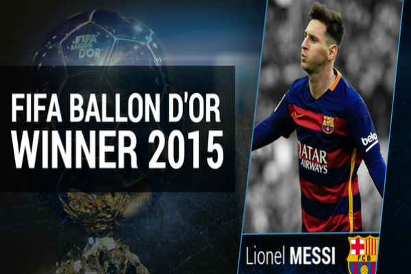 رسمياً... ميسي أفضل لاعب في العالم لعام 2015