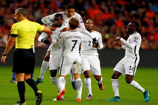 بوغبا يقود فرنسا لاسقاط هولندا في معقلها