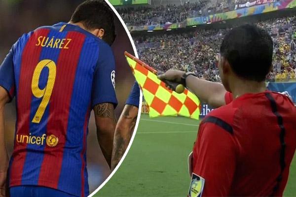 سواريز وقع في مصيدة التسلل 12 مرة خلال 7 مباريات فقط