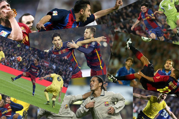 رشحت صحيفة سبورت الصادرة من إقليم كتالونيا 16 هدفًا لنادي برشلونة لاختيار أفضل هدف منها
